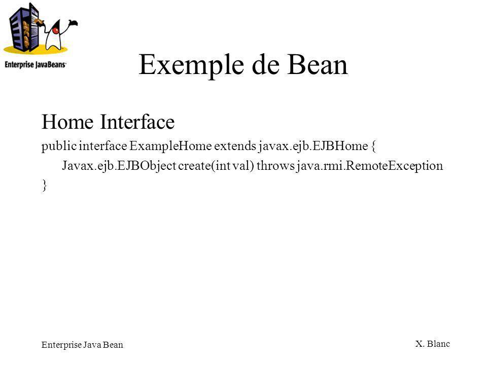 Exemple de Bean Home Interface