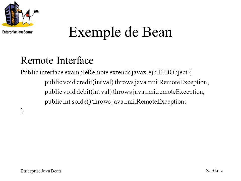 Exemple de Bean Remote Interface