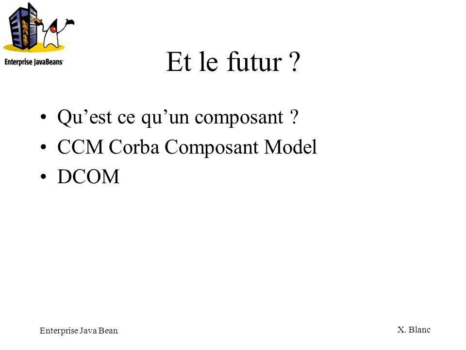 Et le futur Qu'est ce qu'un composant CCM Corba Composant Model