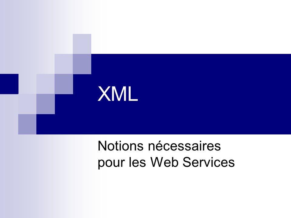 Notions nécessaires pour les Web Services