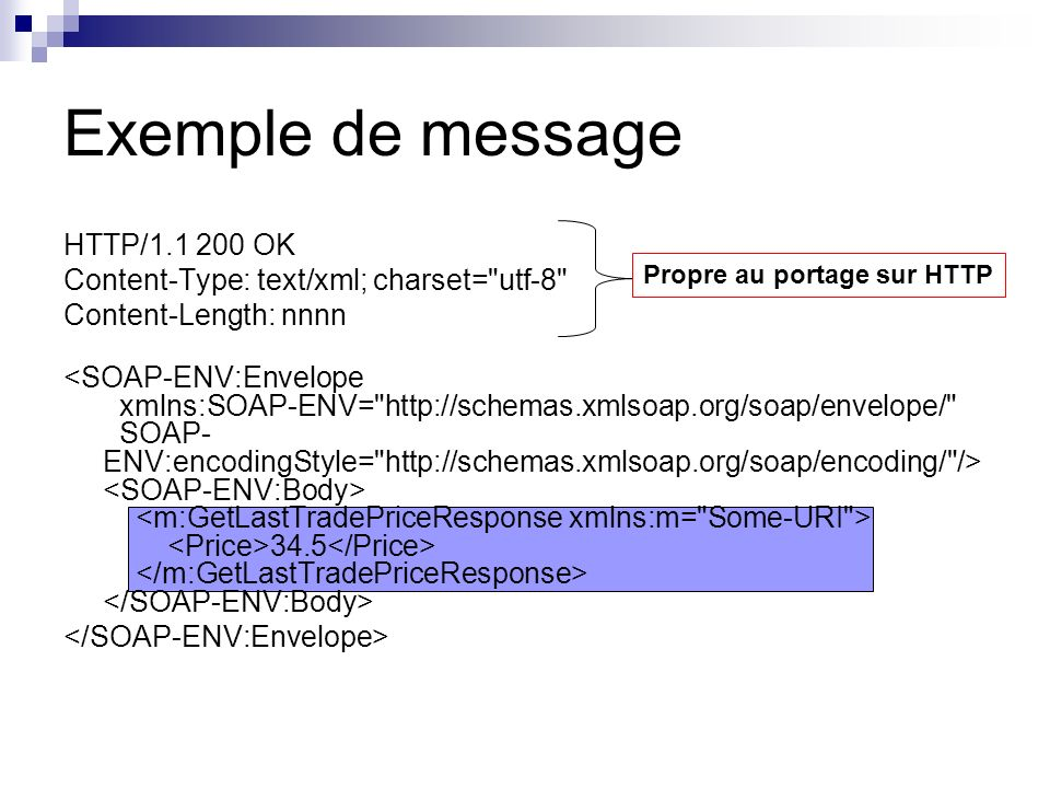 Exemple de message HTTP/1.1 200 OK