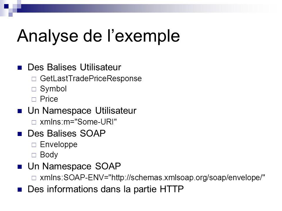 Analyse de l'exemple Des Balises Utilisateur Un Namespace Utilisateur