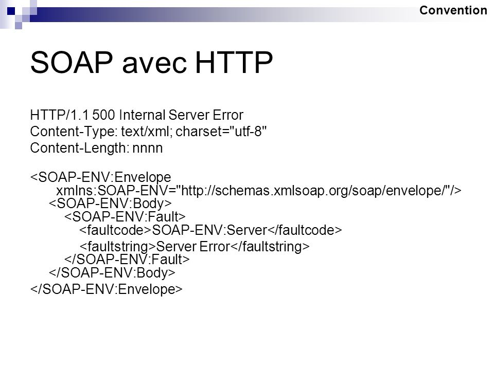 SOAP avec HTTP HTTP/1.1 500 Internal Server Error