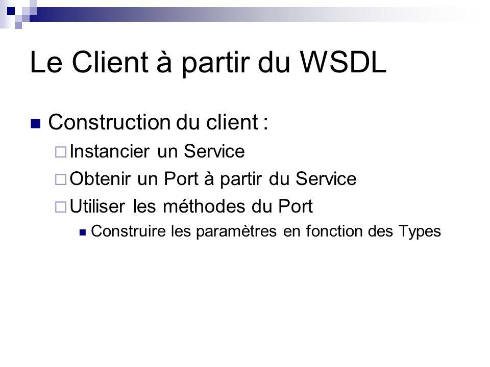 Le Client à partir du WSDL