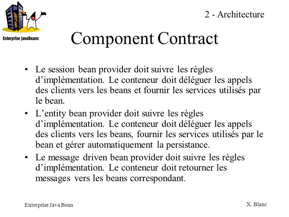 Component Contract 2 - Architecture