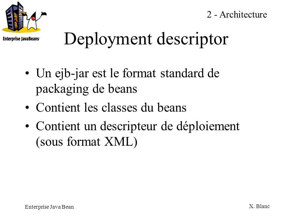 Deployment descriptor
