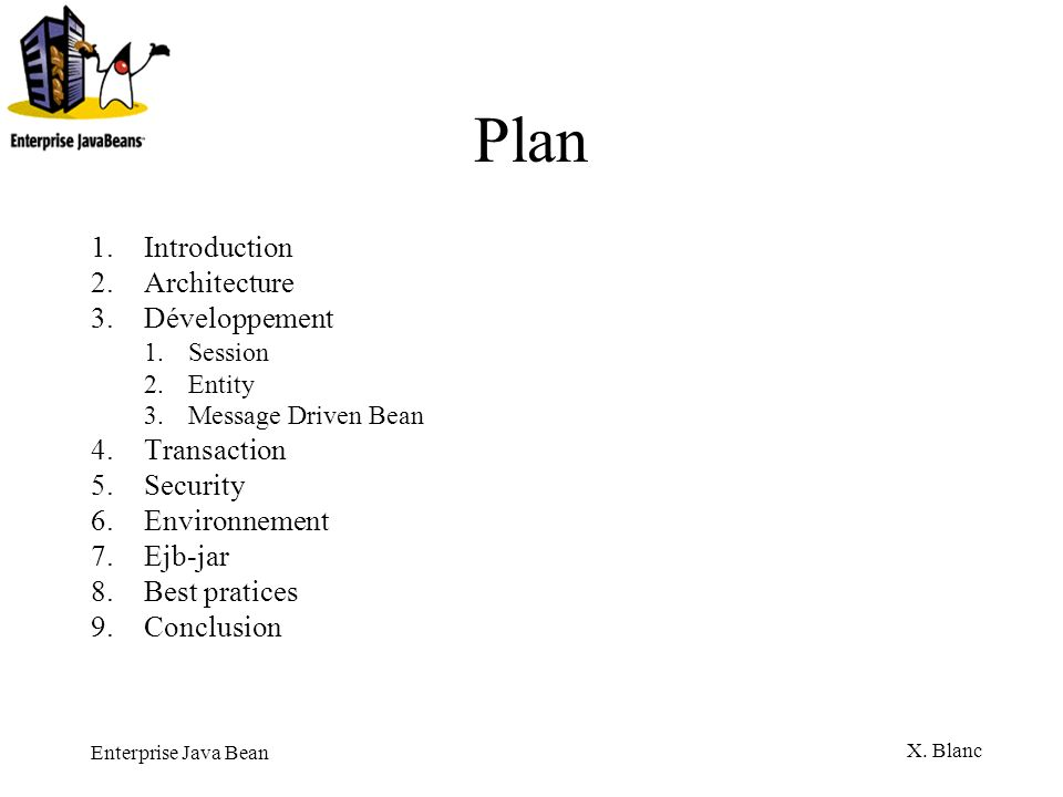Plan Introduction Architecture Développement Transaction Security