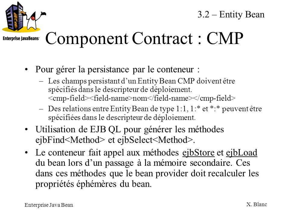Component Contract : CMP
