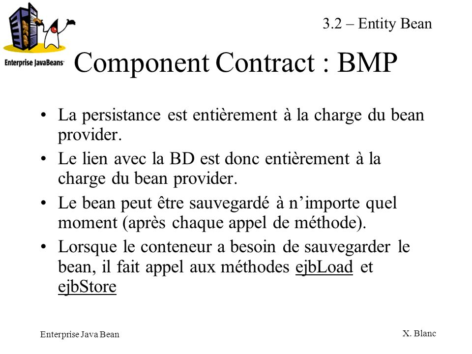 Component Contract : BMP