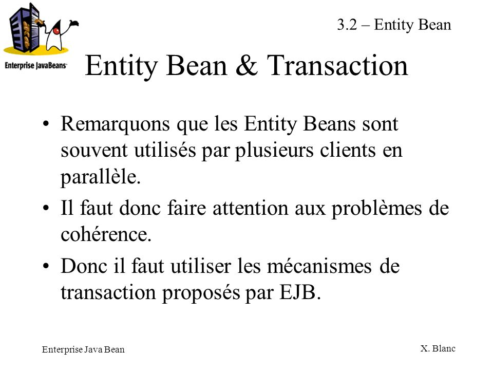 Entity Bean & Transaction