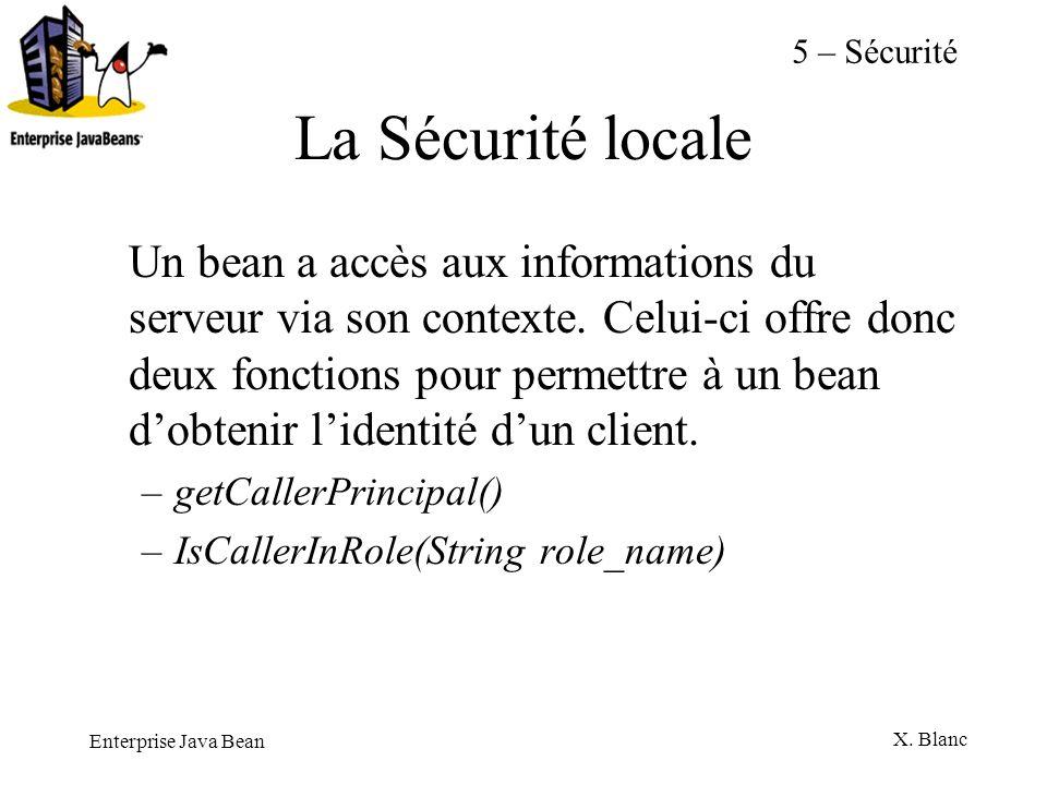 5 – SécuritéLa Sécurité locale.