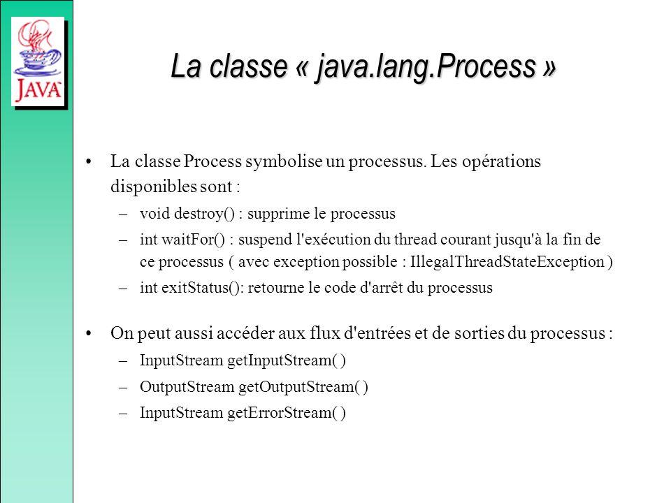 La classe « java.lang.Process »