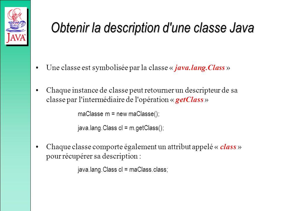 Obtenir la description d une classe Java