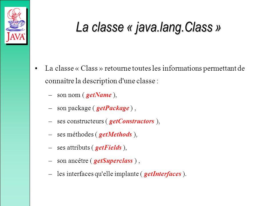 La classe « java.lang.Class »