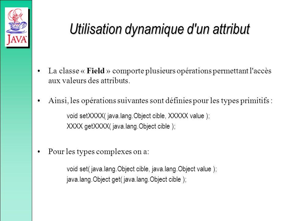 Utilisation dynamique d un attribut