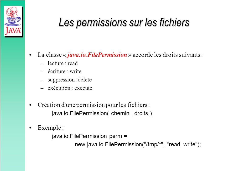 Les permissions sur les fichiers