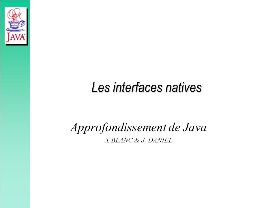Les interfaces natives