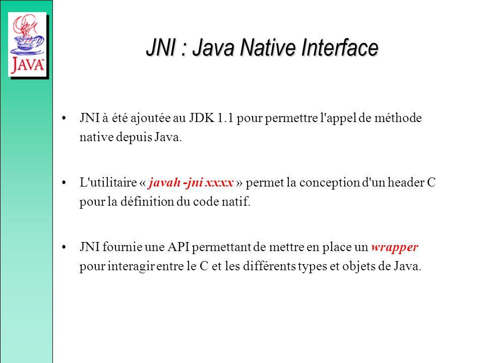 JNI : Java Native Interface
