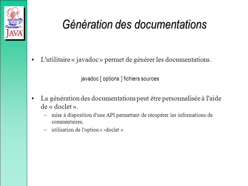 Génération des documentations