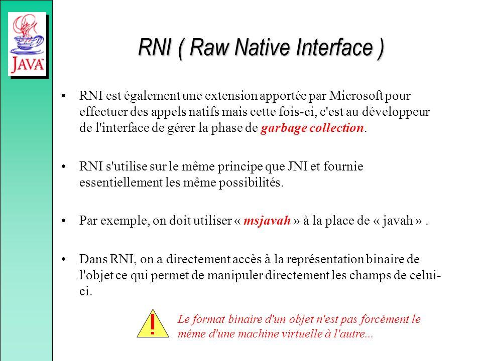 RNI ( Raw Native Interface )