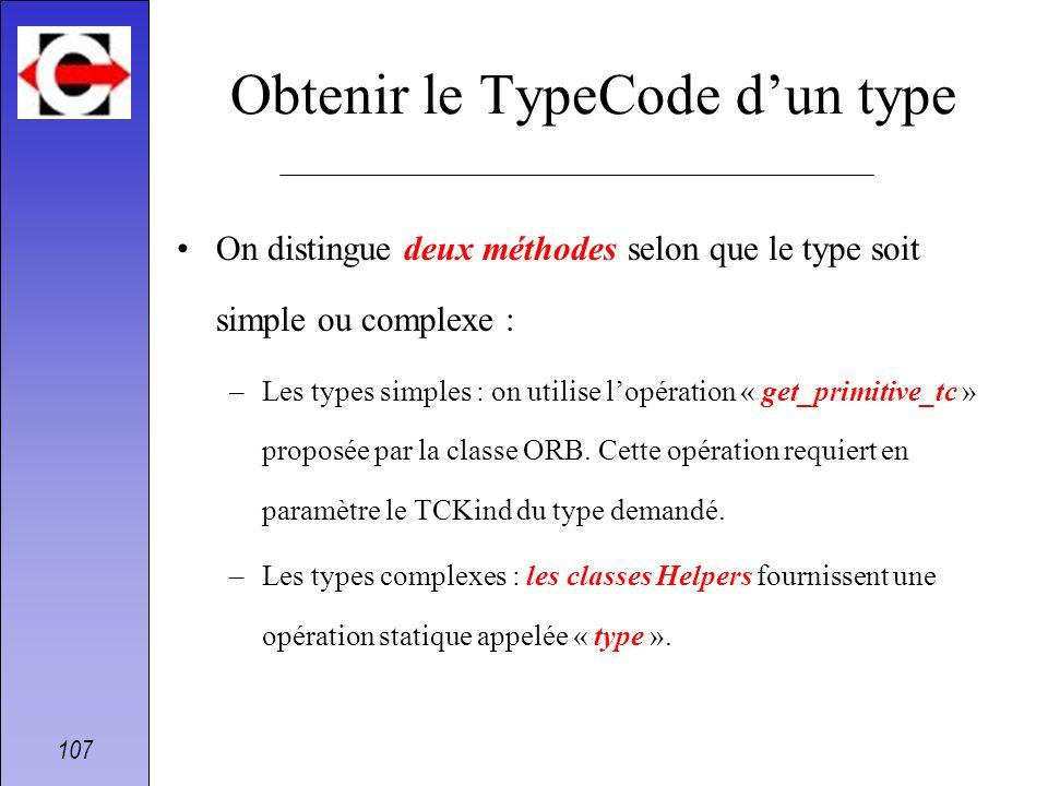 Obtenir le TypeCode d'un type