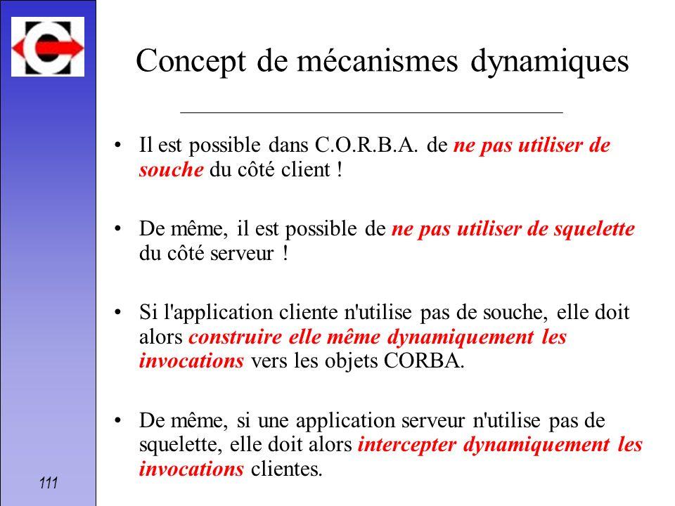 Concept de mécanismes dynamiques
