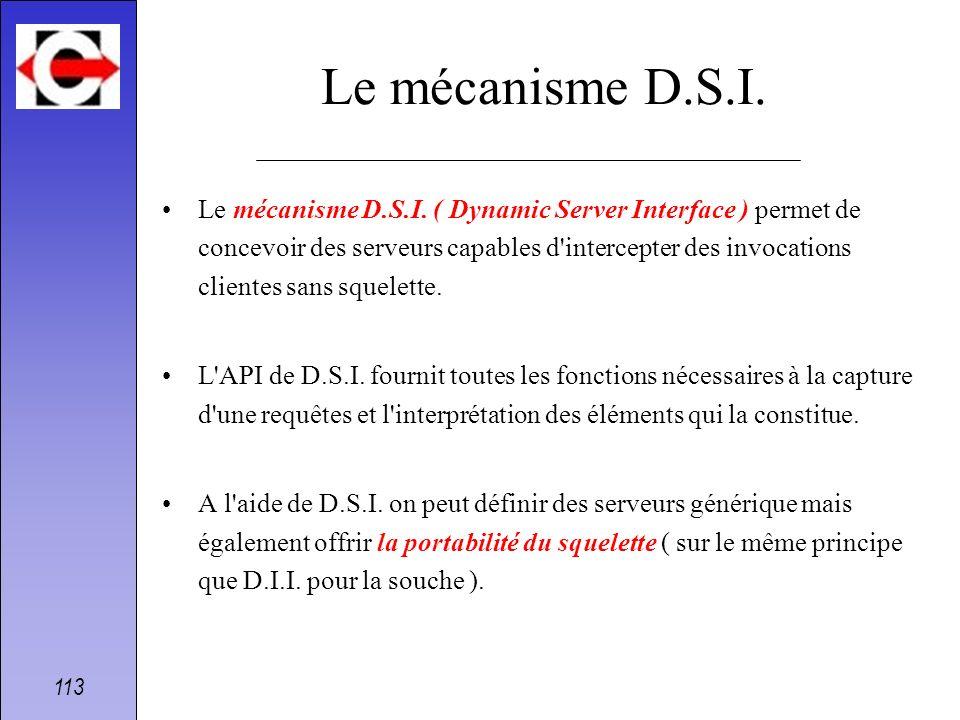 Le mécanisme D.S.I.