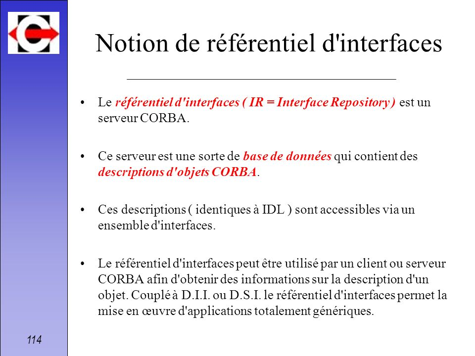 Notion de référentiel d interfaces
