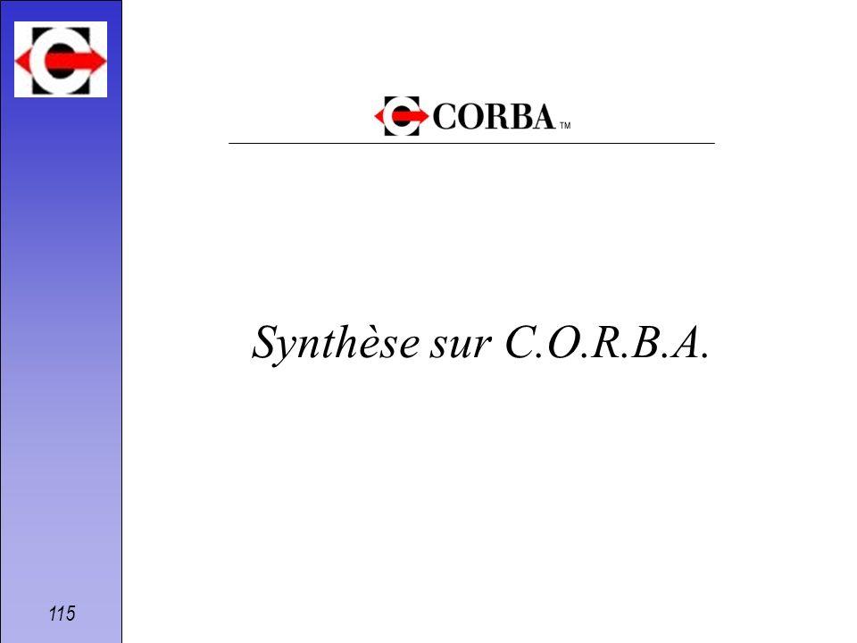 Synthèse sur C.O.R.B.A.