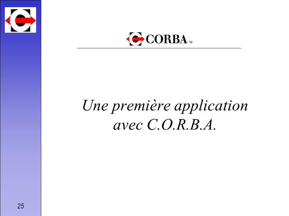Une première application avec C.O.R.B.A.