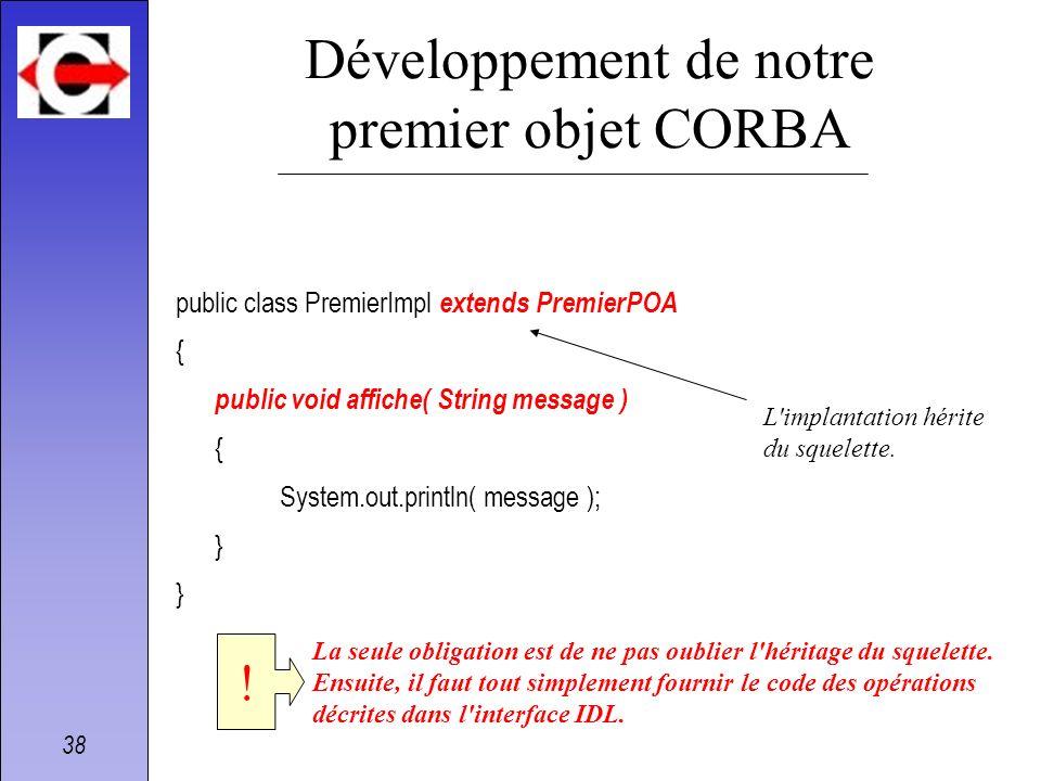 Développement de notre premier objet CORBA