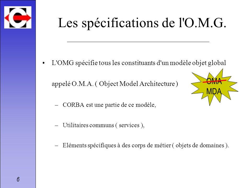 Les spécifications de l O.M.G.