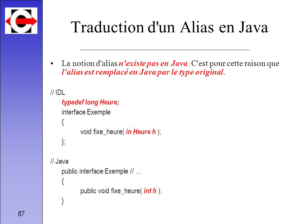 Traduction d un Alias en Java