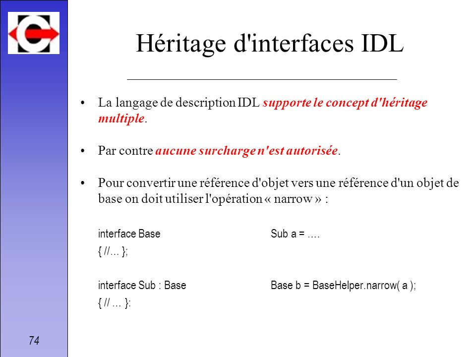 Héritage d interfaces IDL