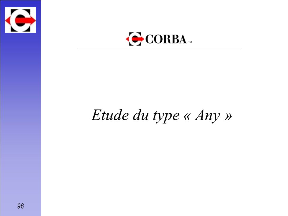 Etude du type « Any »