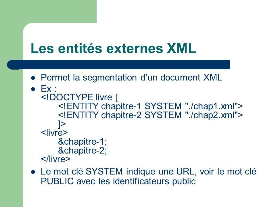 Les entités externes XML
