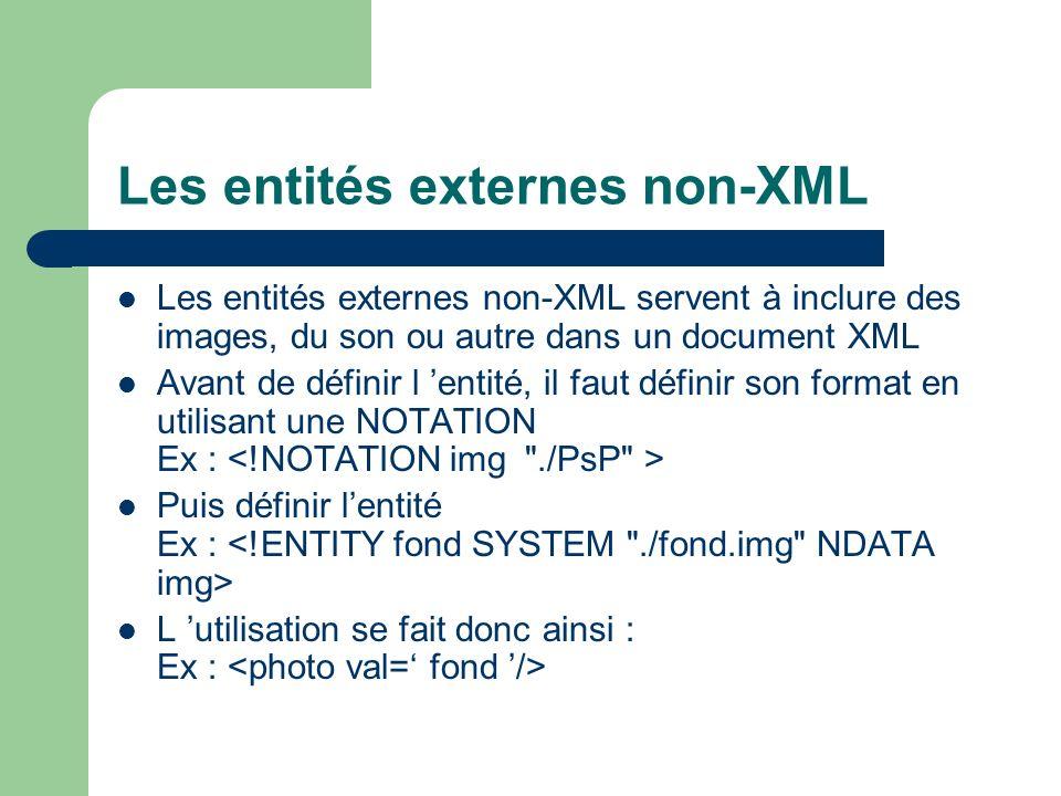 Les entités externes non-XML