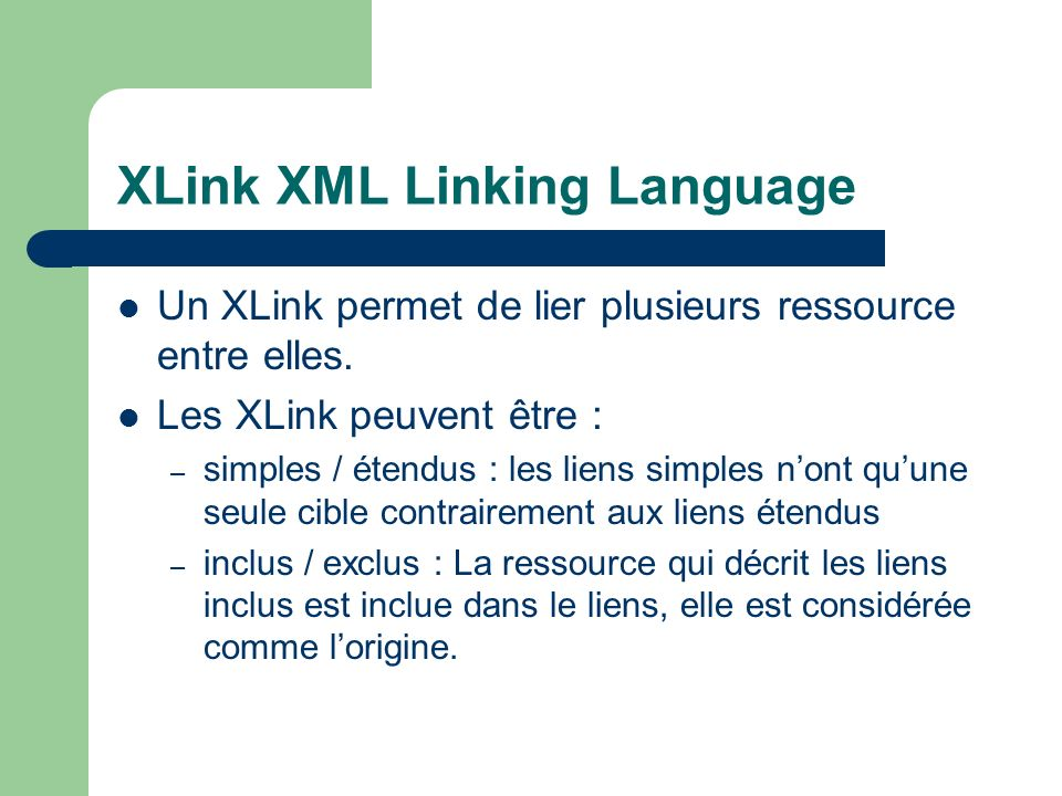 XLink XML Linking Language