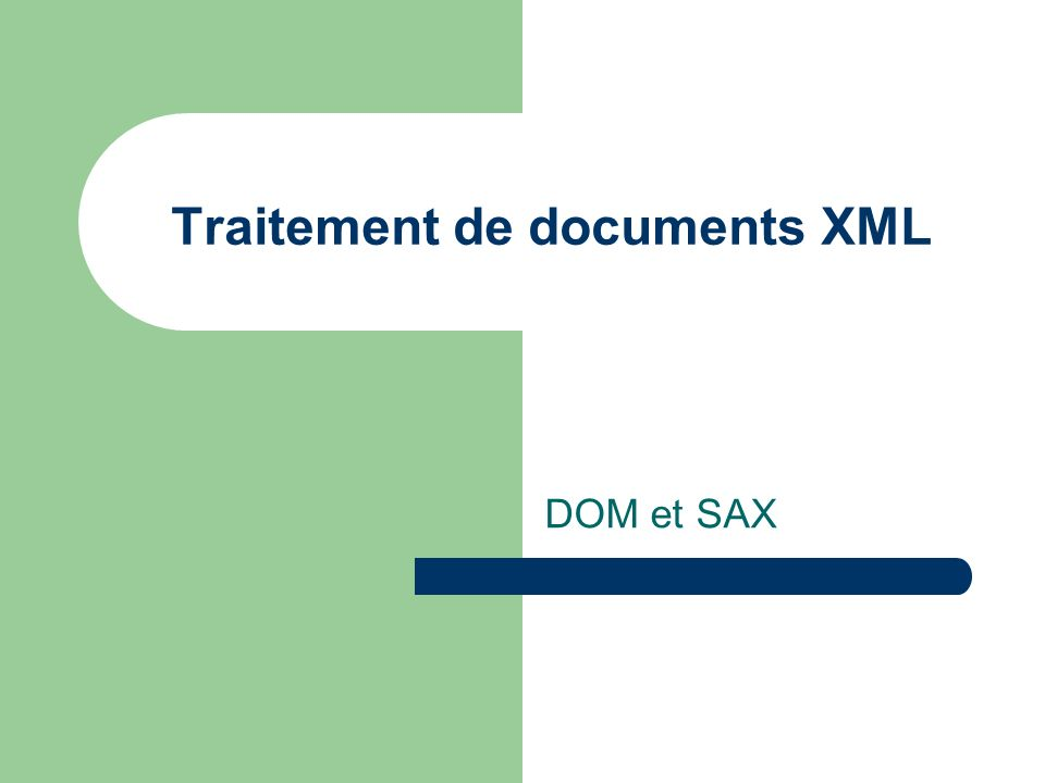 Traitement de documents XML
