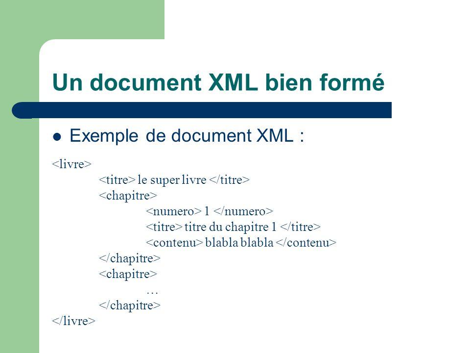 Un document XML bien formé