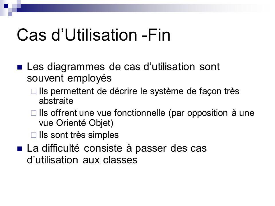 Cas d'Utilisation -Fin