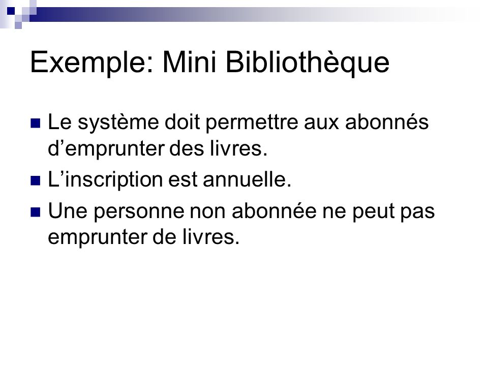 Exemple: Mini Bibliothèque