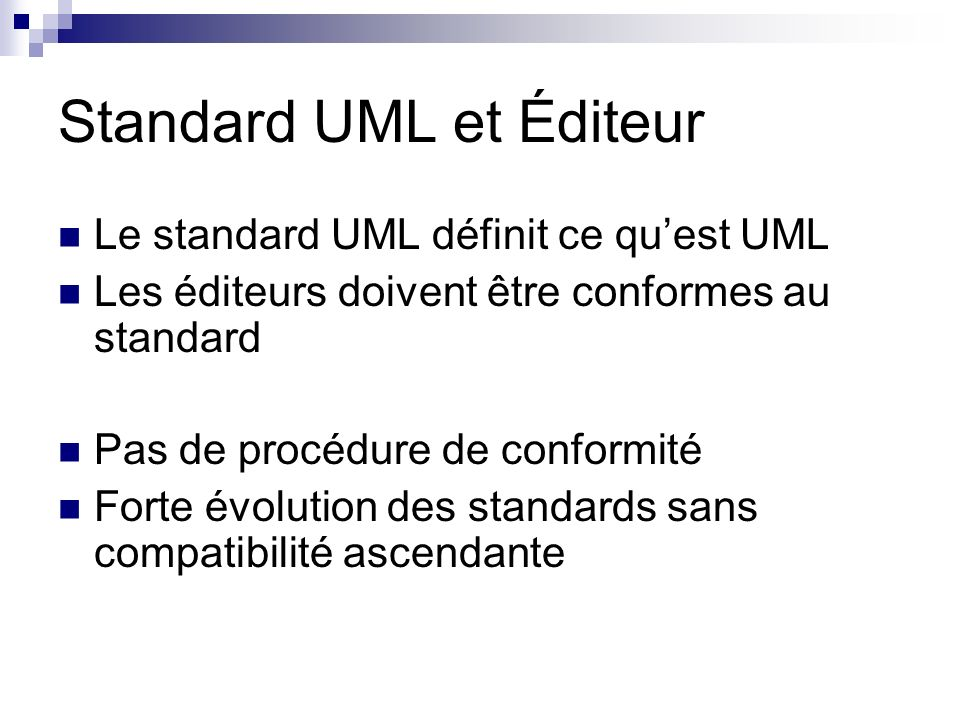 Standard UML et Éditeur