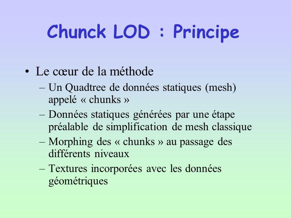 Chunck LOD : Principe Le cœur de la méthode