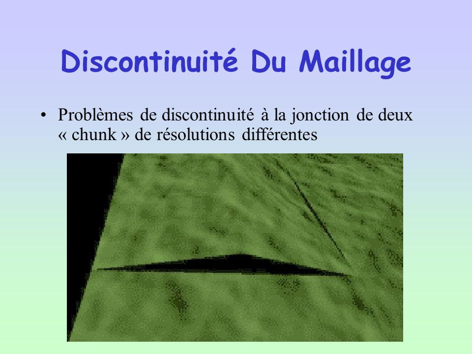 Discontinuité Du Maillage