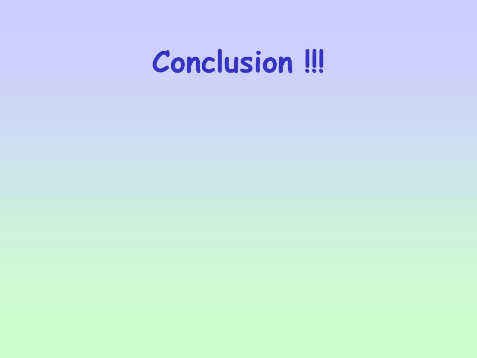 Conclusion !!!