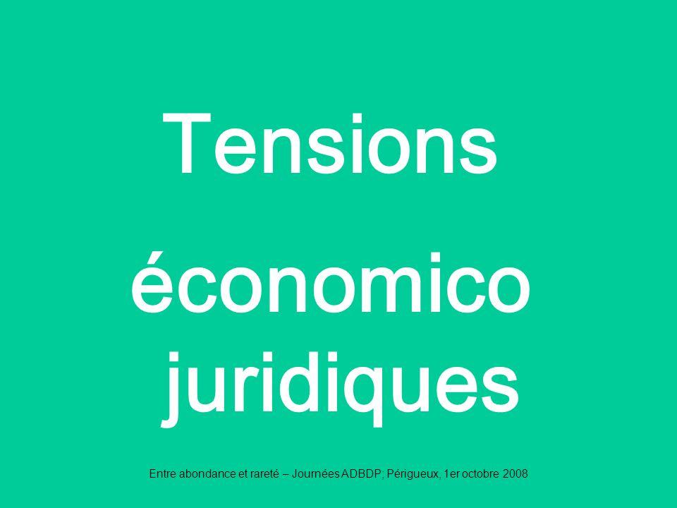 Tensions économico juridiques