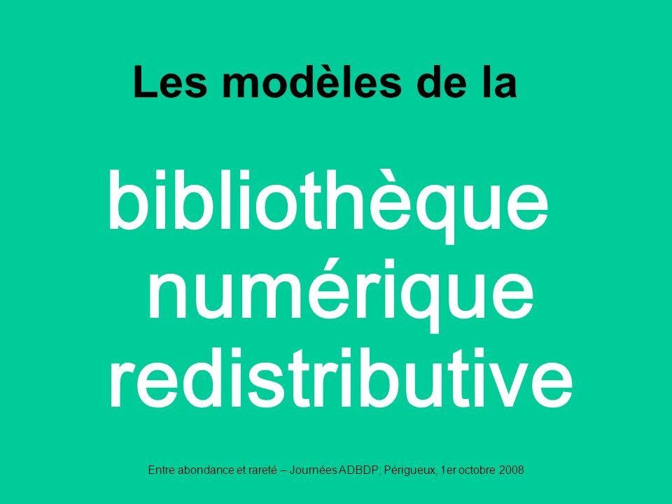 bibliothèque numérique redistributive