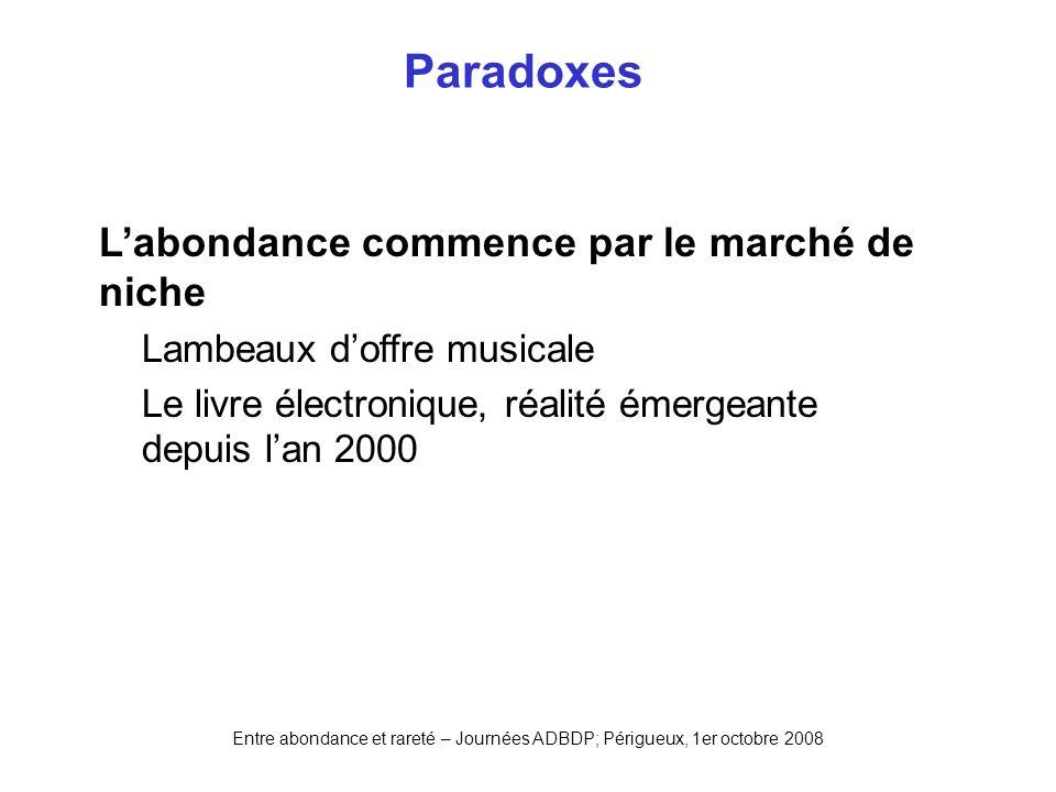 Paradoxes L'abondance commence par le marché de niche