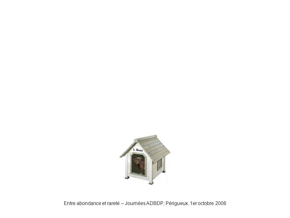 Niche1 Entre abondance et rareté – Journées ADBDP; Périgueux, 1er octobre 2008